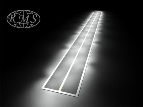 Przykładowa wizualizacja natężenia oświetlenia na powierzchni  drogi.